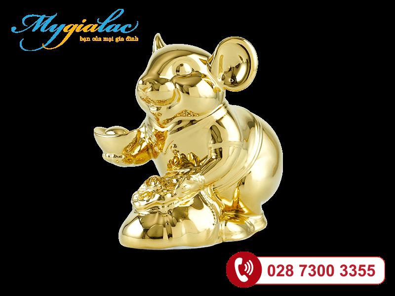 Chuột Phú Dát vàng 24K 8cm
