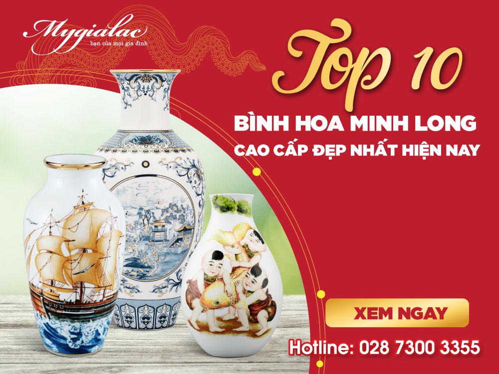 Top 10 Bình Hoa Minh Long Cao Cấp Đẹp Nhất Hiện Nay