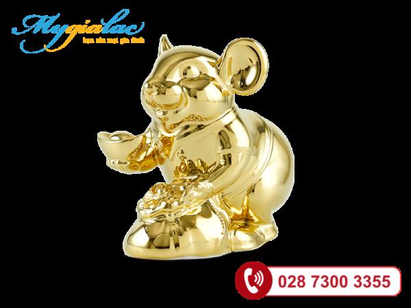 Chuột Phú Dát vàng 24K 13cm