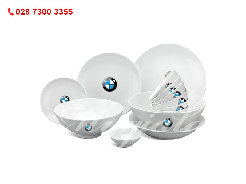Quà tặng 8/3 bộ đồ ăn Minh Long in logo BMW