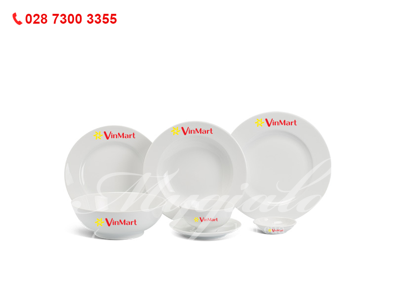 Quà tặng 8/3 bộ đồ ăn Minh Long in logo Vinmart