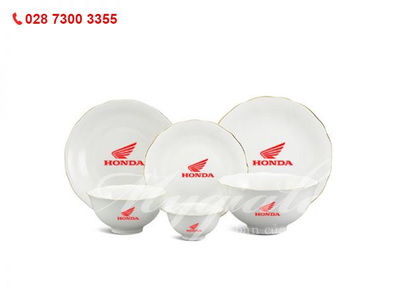 Quà tặng 8/3 bộ đồ ăn Minh Long in logo Honda