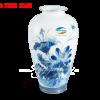 Binh Hoa 27 Cm Sen Vang Men Ngoc