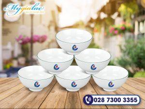 Bo 6 Chen Jasmine Chi Xanh La In Logo