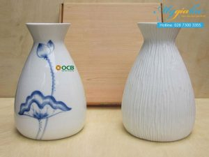 Binh Hoa Bat Trang In Logo Ocb