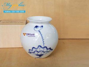 Binh Hoa Bat Trang In Logo Tpbank
