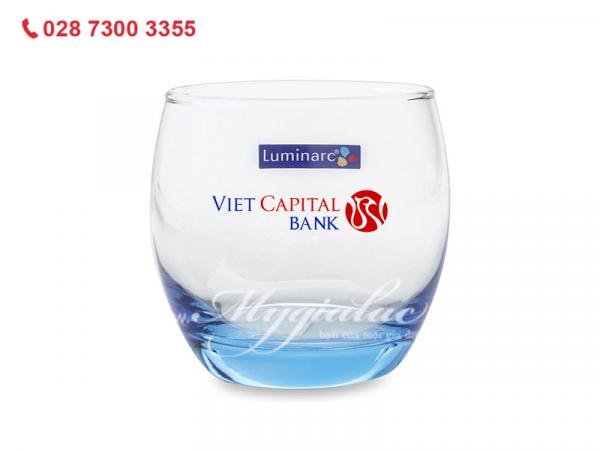 Ly Thap ThỦy Tinh Luminarc Salto Ice Blue 320ml In Logo