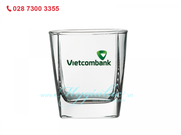 Ly Thap Thuy Tinh In Logo Vietcombank