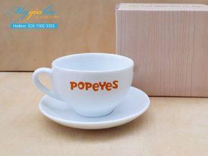 Tach Cafe Su Trang 220ml Popeyes