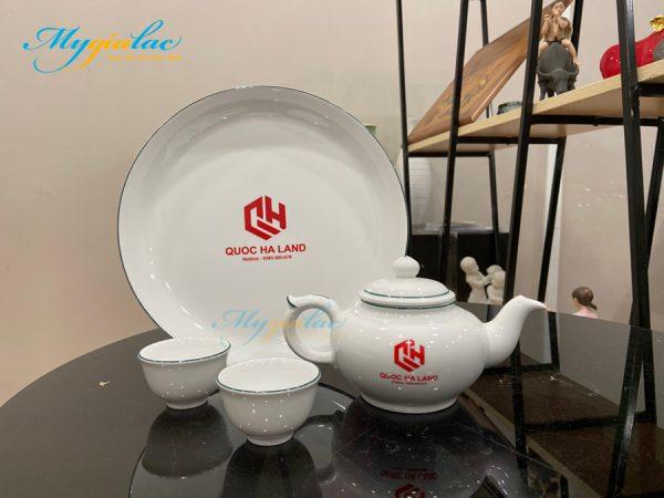 Bo Tra Jasmine Chi Xanh La 0.35l In Logo Doanh Nghiep